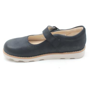 CLARKS CROWN HONOR STRAP SHOE - NAVY G