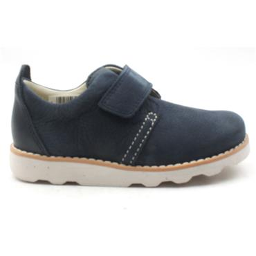 CLARKS CROWN PARK VELCRO SHOE - NAVY F