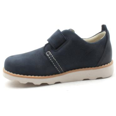 CLARKS CROWN PARK VELCRO SHOE - NAVY G