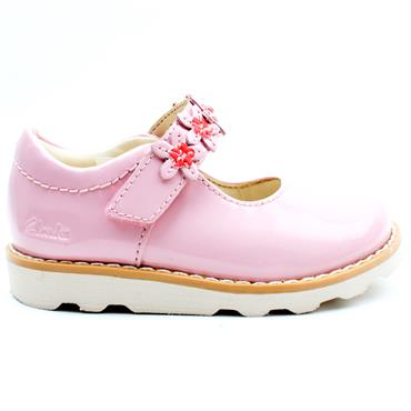 CLARKS CROWN PETAL T STRAP SHOE - BABY PINK H