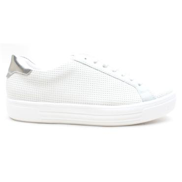 REMONTE D0904 LACED SHOE - WHITE SILVER
