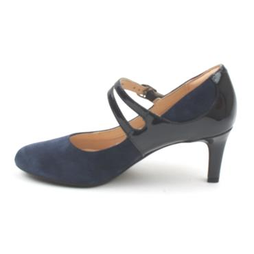 CLARKS DANCER REECE STRAP SHOE - NAVY D