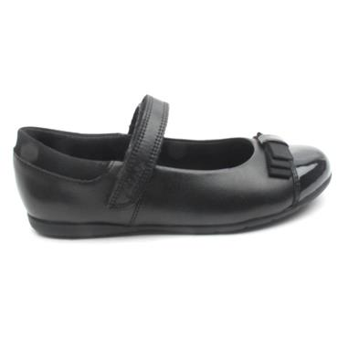 CLARKS VELCRO DANCESHOUT SHOE - BLACK E