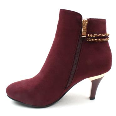SUSST DONNA0 ANKLE BOOT - BURGUNDY