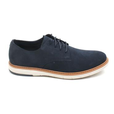 CLARKS DRAPER LACED LACED SHOE - NAVY SUEDE G