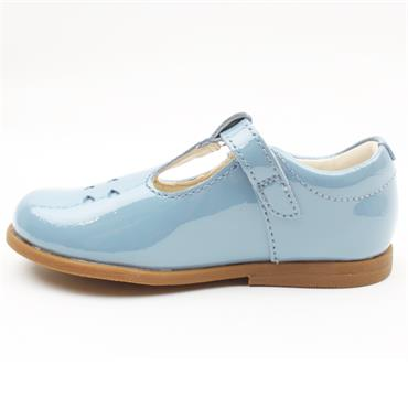 CLARKS DREW PLAY T JUNIOR SHOE - BLUE G