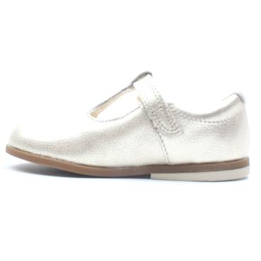CLARKS DREW SHINE T T BAR SHOE - GOLD G