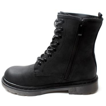 ZANNI&CO DRILLEYBUMBLE LACED BOOT - BLACK CRAZ