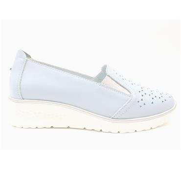 DRILLEYS WEDGE SHOE - LIGHT BLUE