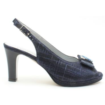 VERNISSAGE E9386 SLING BACK SANDAL - NAVY