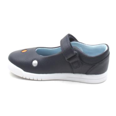 CLARKS EMERY DOT T STRAP SHOE - NAVY F