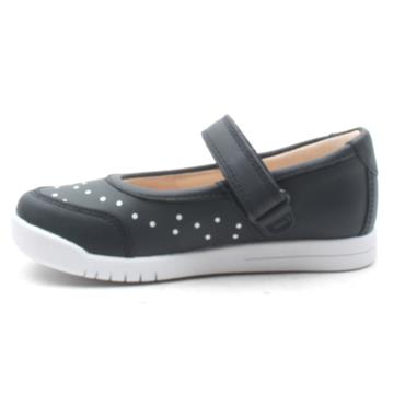 CLARKS EMERY HALO SHOE - NAVY F