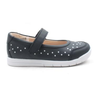 CLARKS EMERY HALO SHOE - NAVY H