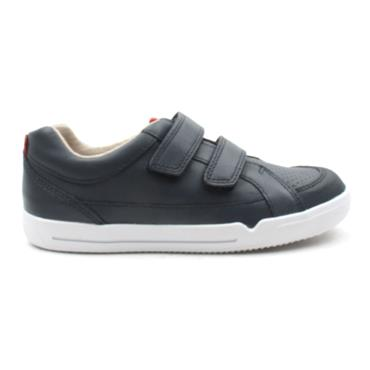 CLARKS EMERY WALK VELCRO SHOE - NAVY F