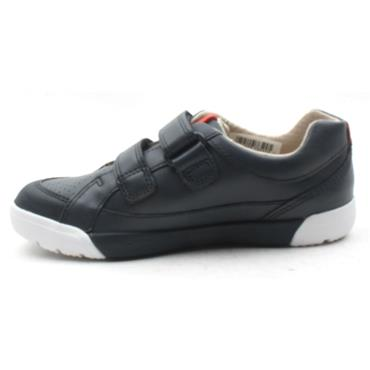 CLARKS EMERY WALK VELCRO SHOE - NAVY G