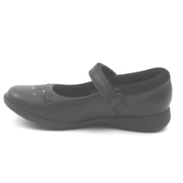 CLARKS ETCH BRIGHT K STRAP SHOE - BLACK F