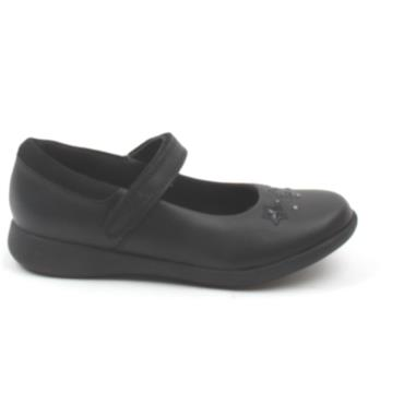 CLARKS ETCH BRIGHT K STRAP SHOE - BLACK G