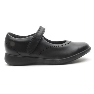 CLARKS ETCHCRAFT K  VELCRO SHOE - BLACK F