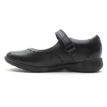 CLARKS ETCHCRAFT K  VELCRO SHOE - BLACK G