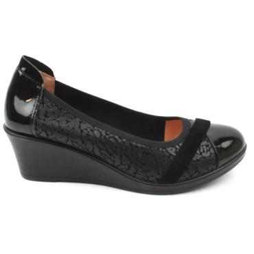 INEA FADO WEDGE SHOE - Black