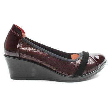 INEA FADO WEDGE SHOE - BURGUNDY