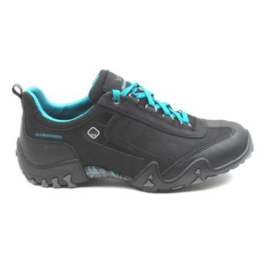 ALL ROUNDER FINA TEX LACED SHOE - BLACK/GREY
