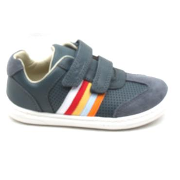 CLARKS FLASH BEAU T VELCRO SHOE - NAVY F