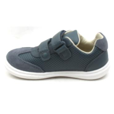 CLARKS FLASH BEAU T VELCRO SHOE - NAVY G