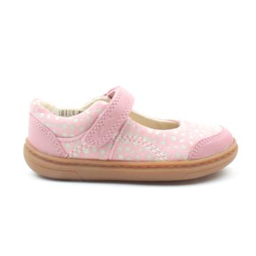 CLARKS FLASH BRIGHT T STRAP SHOE - DUSKYPINK G