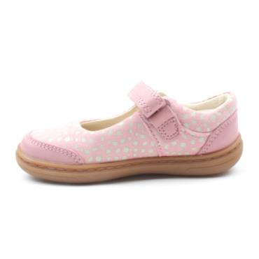 CLARKS FLASH BRIGHT T STRAP SHOE - DUSKY PINK F