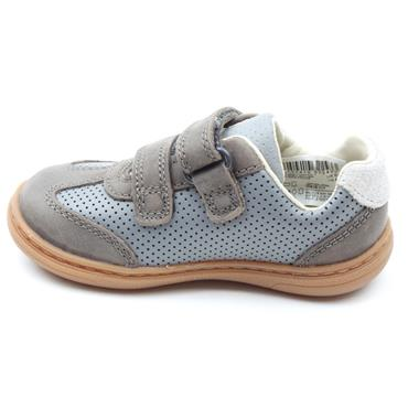 CLARKS FLASH METRA T VELCRO SHOE - GREY LEATHER G