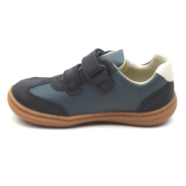 CLARKS FLASH METRA T VELCRO SHOE - NAVY F