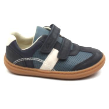 CLARKS FLASH METRA T VELCRO SHOE - NAVY H