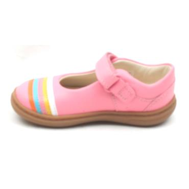 CLARKS FLASH RAIN T STRAP SHOE - PINK F
