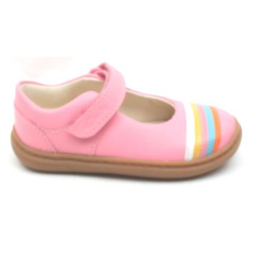 CLARKS FLASH RAIN T STRAP SHOE - PINK G