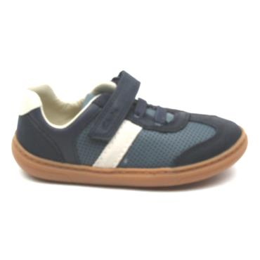 CLARKS FLASH STEP T VELCRO SHOE - NAVY MULTI F