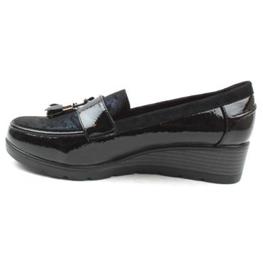 LUNAR FLC217 CARMEL WEDGE SHOE - BLACK BLUE