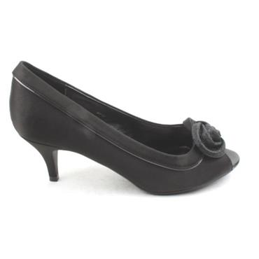 LUNAR FLR222 RIPLEY PEEP TOE LADIES - Black