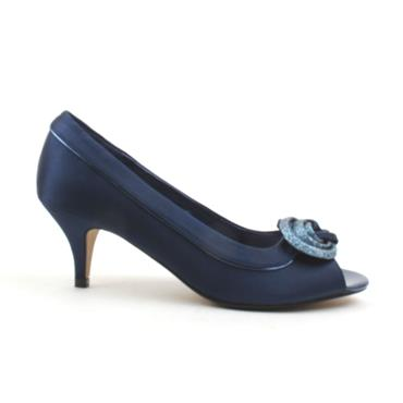 LUNAR FLR222 RIPLEY PEEP TOE LADIES - NAVY