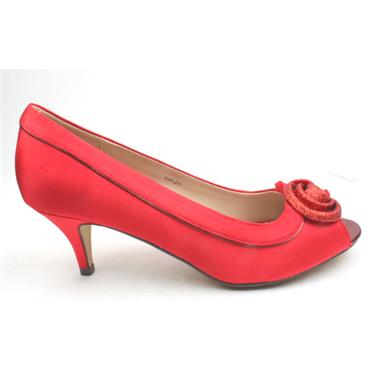 LUNAR FLR222 RIPLEY PEEP TOE LADIES - RED