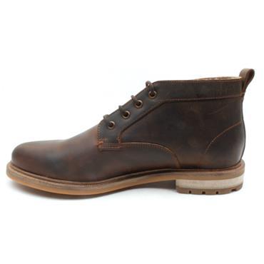 CLARKS FOXWELL MID LACED BOOT - DARK BROWN