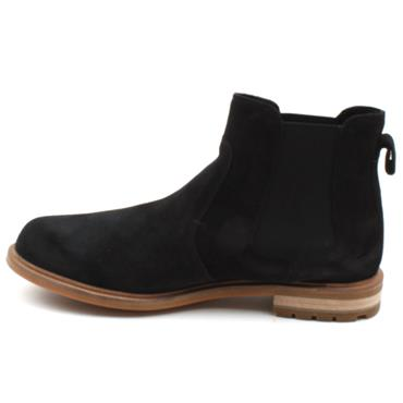 CLARKS FOXWELL TOP GUSSET BOOT - BLACK SUEDE