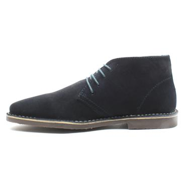 HUSH PUPPIES FREDDIE LACED BOOT - NAVY