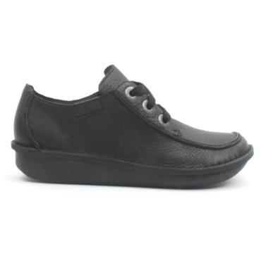 CLARKS FUNNY DREAM LACED SHOE - Black