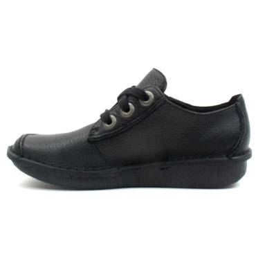 CLARKS FUNNY DREAM LACED SHOE - BLACK D