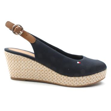 TOMMY HILFIGER FW0FW04081 LOW WEDGE - NAVY