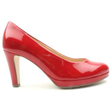 GABOR GAB270 COURT SHOE - RED PATENT