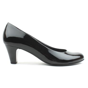 GABOR GAB300 COURT SHOE - BLACK PATENT