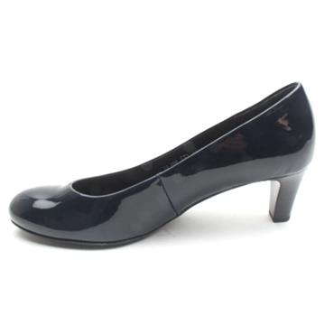 GABOR GAB300 COURT SHOE - NAVY PATENT