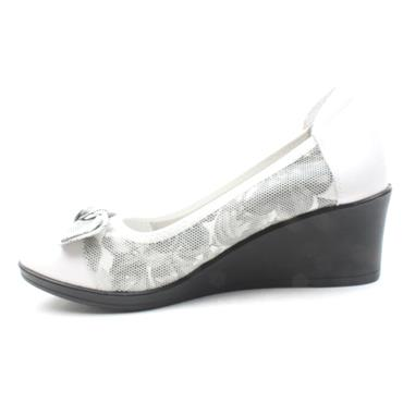 INEA GALAGO WEDGE BOW SHOE - WHITE MULTI